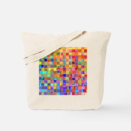 Color Mosaic Tote Bag