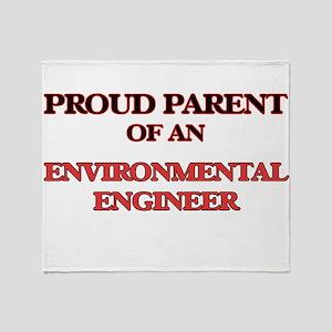 Proud Parent of a Environmental Engi Throw Blanket