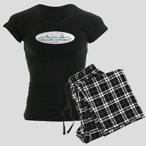Life's Short, Swim Nekkid Women's Dark Pajamas