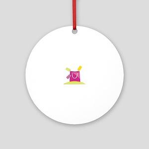Shopping Bag Round Ornament