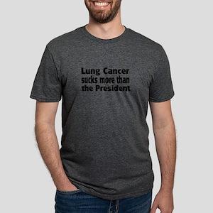 Lung Cancer Mens Tri-blend T-Shirt