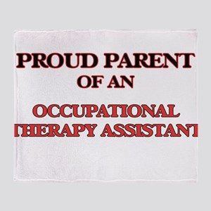 Proud Parent of a Occupational Thera Throw Blanket