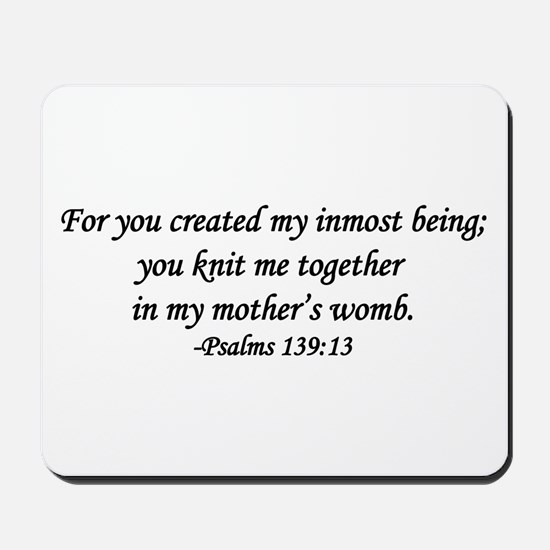 """""""You Knit Me Together"""" Mousepad"""