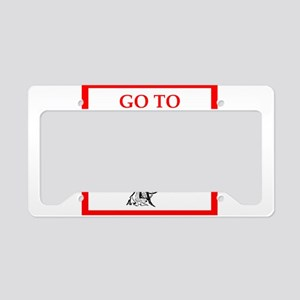 go to hell License Plate Holder