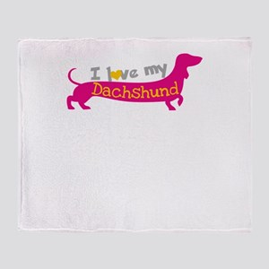 i love my dachshund Throw Blanket