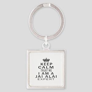 jai Alai Expert Designs Square Keychain