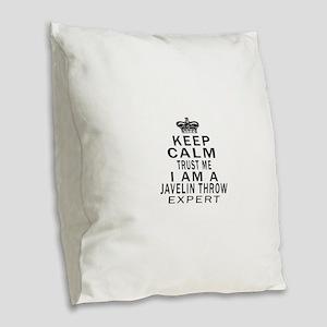 Javelin Throw Expert Designs Burlap Throw Pillow
