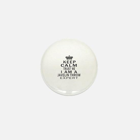 Javelin Throw Expert Designs Mini Button