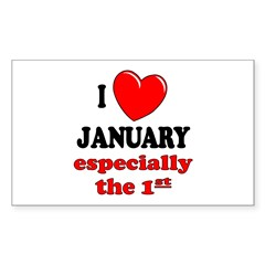 January 1st Rectangle Decal
