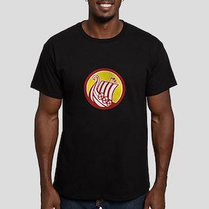 Viking Ship Circle Retro T-Shirt