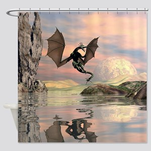 Amazing dragon Shower Curtain