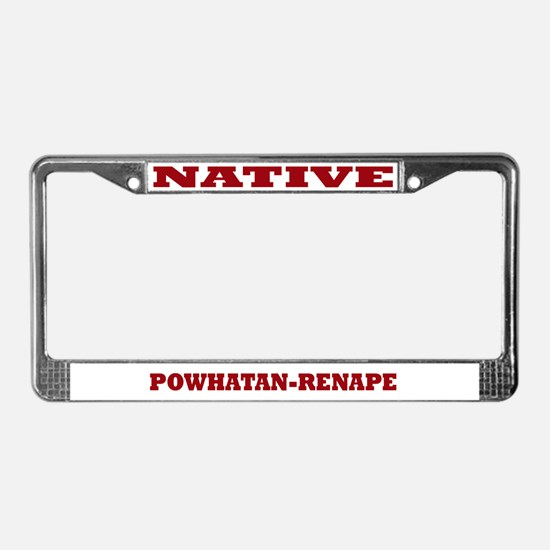 Powhatan-Renape Native License Plate Frame