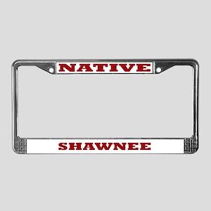 Shawnee Native License Plate Frame