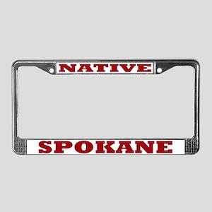 Spokane Native License Plate Frame