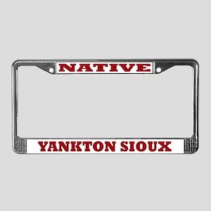 Yankton Sioux Native License Plate Frame