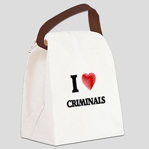 I love Criminals Canvas Lunch Bag