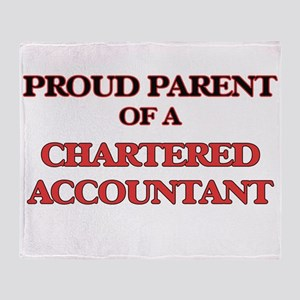 Proud Parent of a Chartered Accounta Throw Blanket