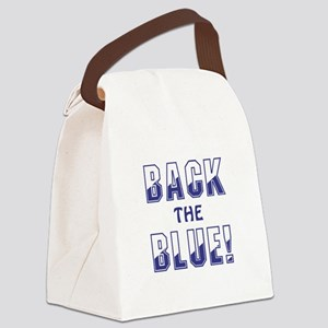 BACK THE BLUE! Canvas Lunch Bag