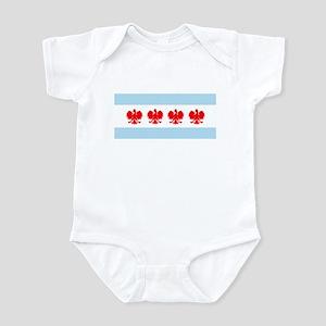 Chicago Flag w/ Polish Eagle Infant Bodysuit