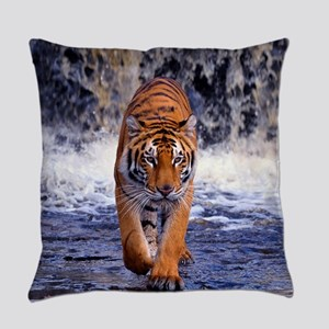 Tiger In Waterfall Everyday Pillow