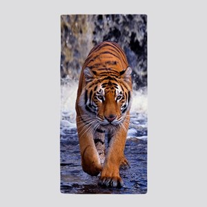 Tiger In Waterfall Beach Towel