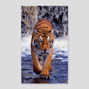 Tiger In Waterfall Area Rug