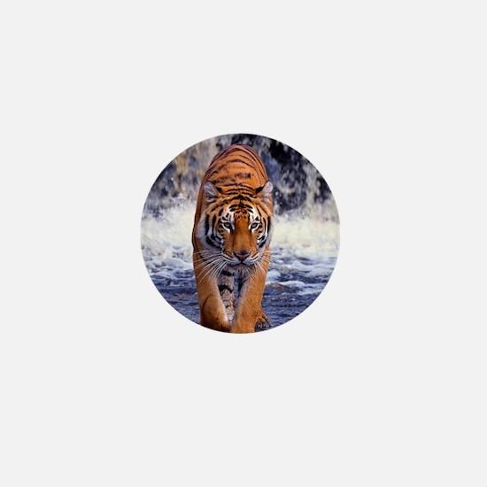 Tiger In Waterfall Mini Button