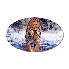 Tiger In Waterfall Wall Sticker