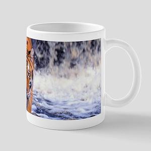 Tiger In Waterfall Mugs
