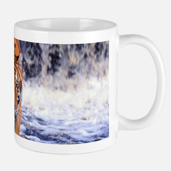 Tiger In Waterfall Mugs