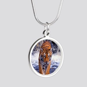 Tiger In Waterfall Necklaces