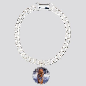 Tiger In Waterfall Charm Bracelet, One Charm