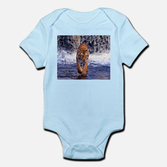 Tiger In Waterfall Body Suit
