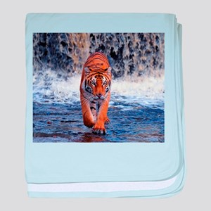 Tiger In Waterfall baby blanket