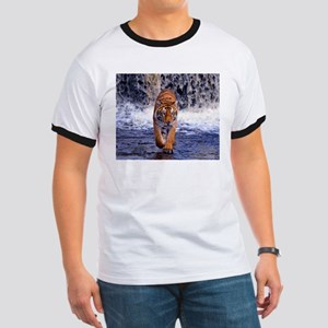 Tiger In Waterfall T-Shirt