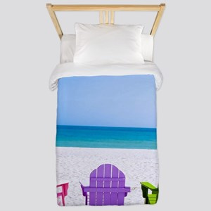 Lounge Chairs On Beach Twin Duvet