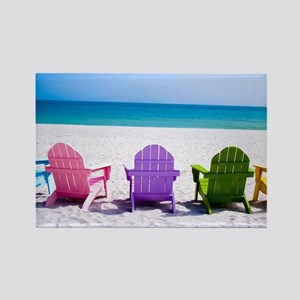 Lounge Chairs On Beach Magnets
