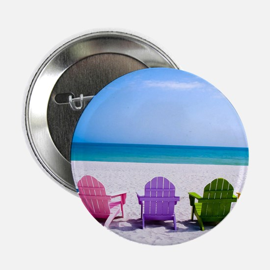 """Lounge Chairs On Beach 2.25"""" Button (10 pack)"""