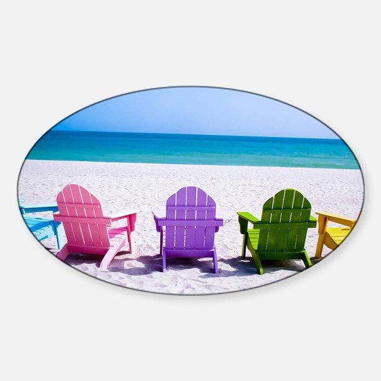 Lounge Chairs On Beach Stickers