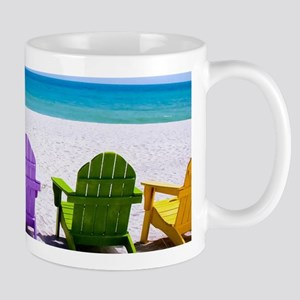 Lounge Chairs On Beach Mugs