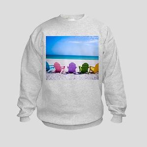 Lounge Chairs On Beach Sweatshirt