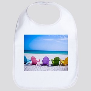 Lounge Chairs On Beach Bib
