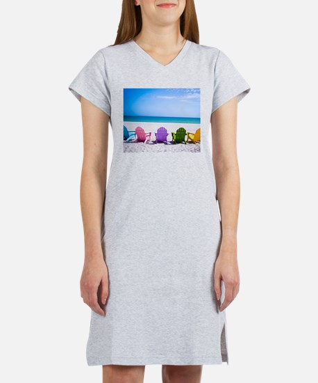 Lounge Chairs On Beach Women's Nightshirt