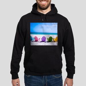 Lounge Chairs On Beach Hoody