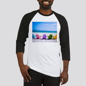 Lounge Chairs On Beach Baseball Jersey
