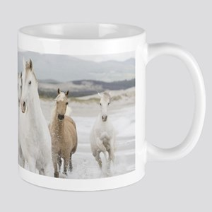 Horses Running On The Beach Mugs