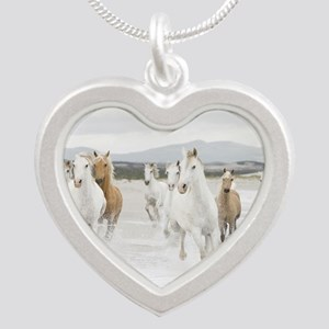 Horses Running On The Beach Necklaces