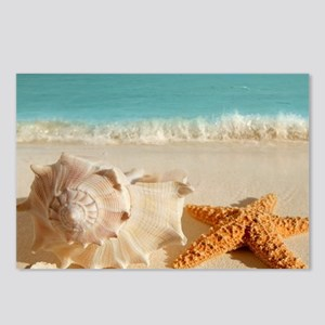 Seashell And Starfish On Beach Postcards (Package