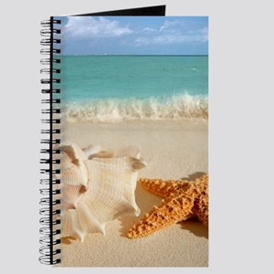 Seashell And Starfish On Beach Journal