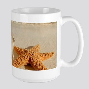Seashell And Starfish On Beach Mugs